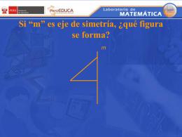 """Si """"m"""" es eje de simetría"""