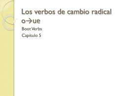 Los verbos de cambio radical o→ue