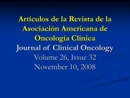 P - Asociación Argentina de Oncología Clínica