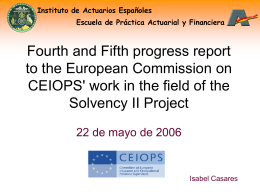 Fourth and Fifth progress report to the European Comission on