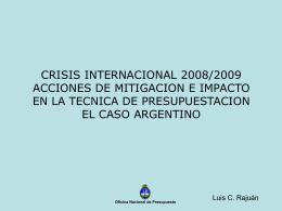 Luis C. Rajuan - Oficina Nacional de Presupuesto