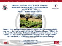 Presentación Dr. Felipe Cisneros