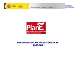 Balance del Fondo Estatal de Inversión Local en Badajoz