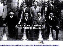 El PENTECOSTALISMO Y EN - Seminario Metodista Pentecostal