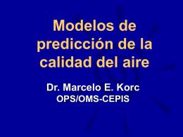Modelos de la Calidad del Aire (versión Powerpoint)
