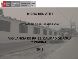 micro red ate estrategia de salud ambiental vigilancia de rr.ss