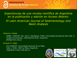 El Latin American Journal of Sedimentology and Basin Analysis