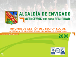Presentación: Rendición de Cuentas Sector Social 2008