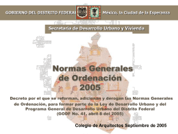 NORMA 7. ALTURAS DE EDIFICACIÓN Y RESTRICCIONES EN LA