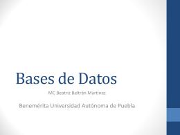 Bases de Datos Otoño 2010 - Beatriz Beltrán Martínez