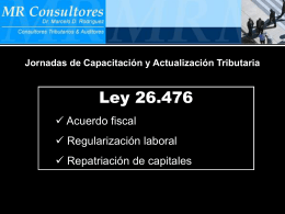 Ley 26476 - Blanqueo (Titulo III)