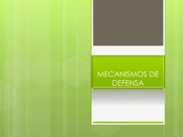 MECANISMOS DE DEFENSA - PsicologiaCientifica