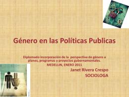 Género en las Políticas Publica