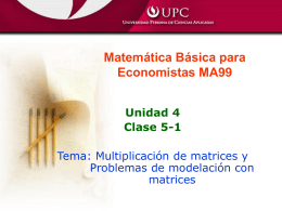 Clase 5-1(Multiplicación de matrices