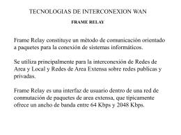 Tecnologias WAN-FR