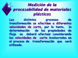 II. Propiedades Reológicas de los Plásticos