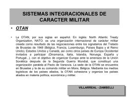 sistemas de integración de carácter militar