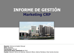 INFORME DE GESTIÓN Marketing CRP