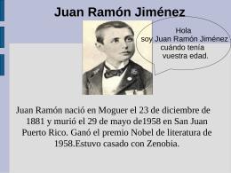 Juan Ramón Jiménez - sanlucassexto2011