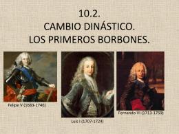 10.2. CAMBIO DINÁSTICO. LOS PRIMEROS BORBONES.