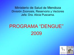 Ministerio de Salud de Mendoza División Zoonosis, Reservorio y
