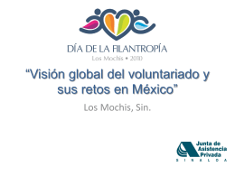 Visión global del voluntariado y sus retos en México