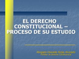 Proceso de Estudio del Derecho Constitucional