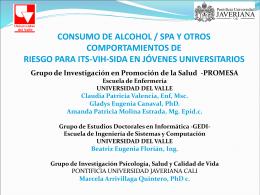 CONSUMO DE ALCOHOL / SPA Y OTROS COMPORTAMIENTOS