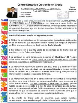 083 ACOMODANDO LO ESPIRITUAL A LO ESPIRITUAL