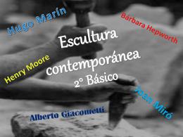 Escultura Contemporánea 2° básico
