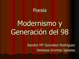 Poesía Modernismo y Generación del 98