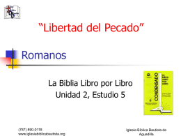 Estudio Bíblico en Romanos - Iglesia Bíblica Bautista de Aguadilla