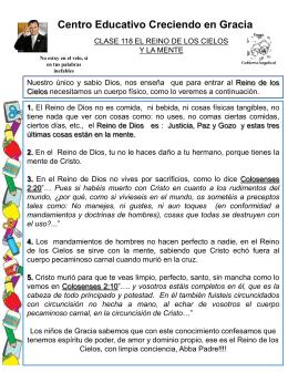 118 EL REINO DE LOS CIELOS Y LA MENTE