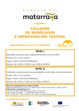 Presentación de PowerPoint - Comarca del Matarraña/Matarranya