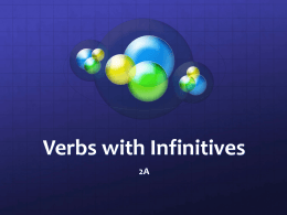 Verbs with Infinitives
