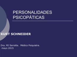 PERSONALIDADES PSICOPÁTICAS