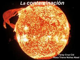 La contaminación - Página web de Lorenzo