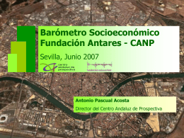 Barómetro Socioeconómico Fundación Antares