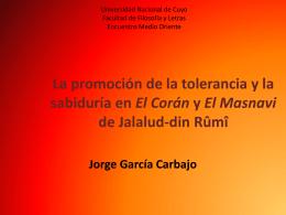 La promoción de la tolerancia y la sabiduría en El Corán y El