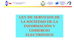 ley de servicios de la sociedad de la información y comercio
