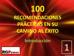 100 RECOMENDACIONES EN SU CAMINO AL ÉXITO