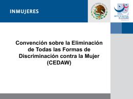 CEDAW - Instituto Nacional de las Mujeres
