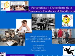 Perspectivas y Tratamiento de la Permanencia Escolar en el
