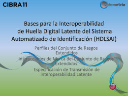 Fundamentos para la interoperabilidad de huellas