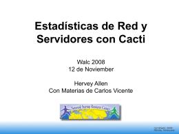 Estadísticas de Red y Servidores con Cacti