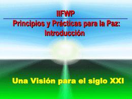 Principios y Practicas para la Paz