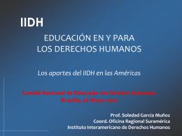 la educación en derechos humanos