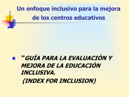 slide index spanish - Proyecto Escuela Inclusiva