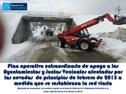 Plan operativo extraordinario de apoyo a los Ayuntamientos y