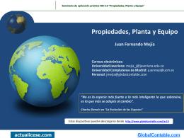 1. Definición de Propiedades, Planta y Equipo